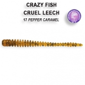 Crazy Fish CRUEL LEECH кальмар 5.4см 8шт 8-5.5-17-6