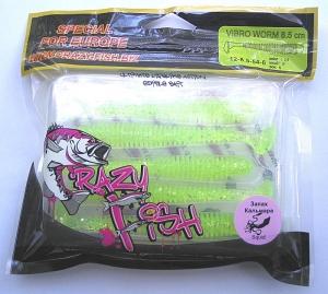 Crazy Fish VIBRO WORM кальмар 8,5см 5шт 12-8,5-54-6