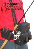 Stakan ПортатiF Черный Модульная поясная сумка со съёмным держателем удилища.