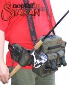 Stakan ПортатiF Олива Модульная поясная сумка со съёмным держателем удилища.