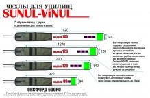 Sunul-Vinul (140 см) чехол для удилища